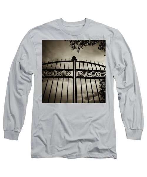 The Gate In Sepia Long Sleeve T-Shirt by Steven Milner