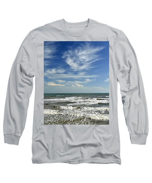 The Gulf Of Mexico From Galveston Long Sleeve T-Shirt