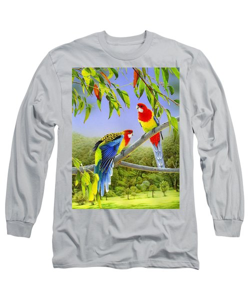 The Happy Couple - Eastern Rosellas  Long Sleeve T-Shirt
