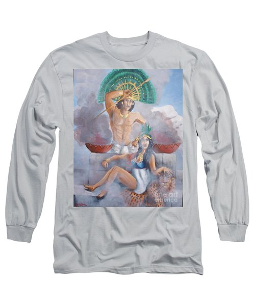 The Huey Tlatoni Or Emperor And Wife Long Sleeve T-Shirt