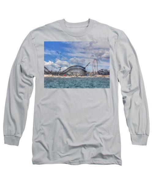 The Jersey Shore Long Sleeve T-Shirt by Lori Deiter