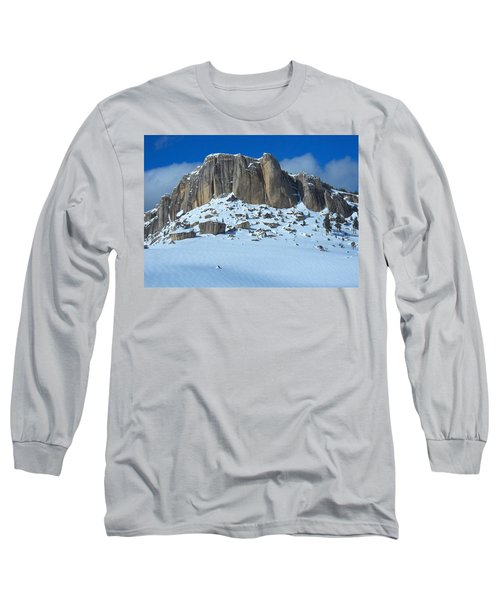 Long Sleeve T-Shirt featuring the photograph The Mountain Citadel by Michele Myers