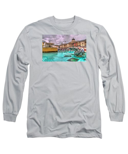 Long Sleeve T-Shirt featuring the photograph The National Gallery In Trafalgar Square by Tim Stanley
