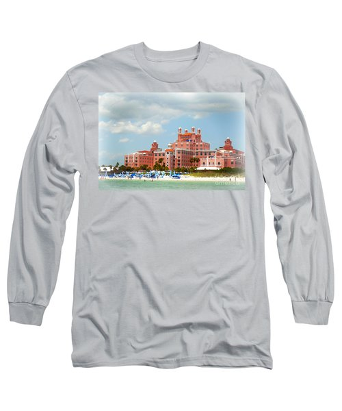 The Pink Palace Long Sleeve T-Shirt by Valerie Reeves