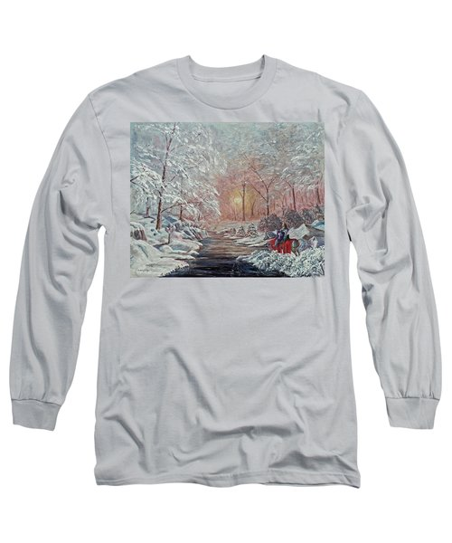 Long Sleeve T-Shirt featuring the painting The Quest Begins by Anthony Lyon