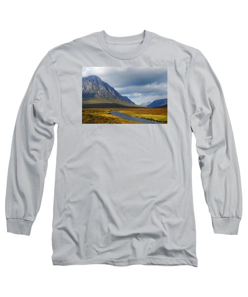 Long Sleeve T-Shirt featuring the photograph The River Runs Through It by Wendy Wilton