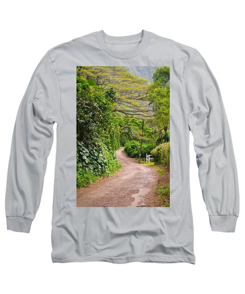 The Road Less Traveled Long Sleeve T-Shirt by Denise Bird
