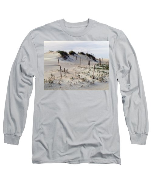 Long Sleeve T-Shirt featuring the photograph The Sands Of Obx by Greg Reed