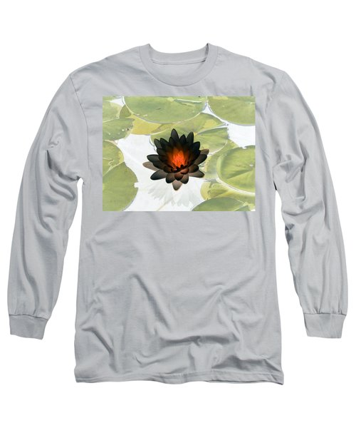 Long Sleeve T-Shirt featuring the photograph The Water Lilies Collection - Photopower 1034 by Pamela Critchlow