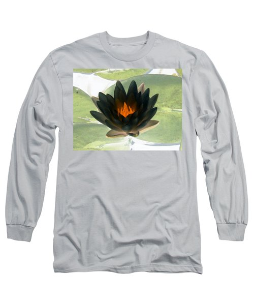 Long Sleeve T-Shirt featuring the photograph The Water Lilies Collection - Photopower 1037 by Pamela Critchlow