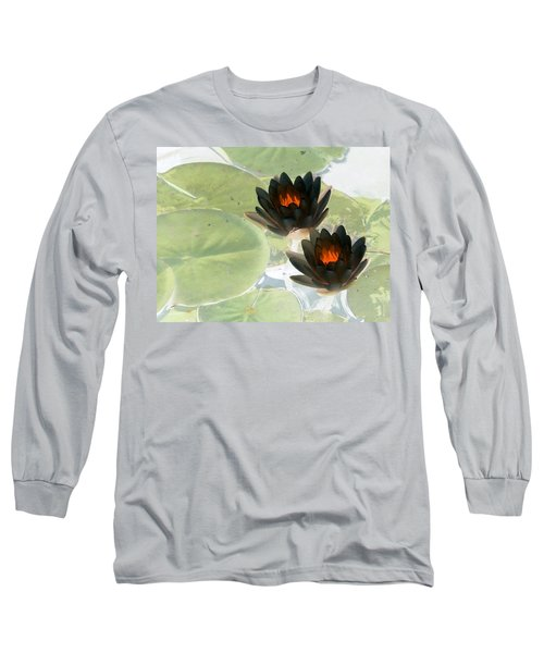 Long Sleeve T-Shirt featuring the photograph The Water Lilies Collection - Photopower 1039 by Pamela Critchlow