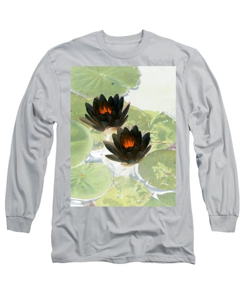 Long Sleeve T-Shirt featuring the photograph The Water Lilies Collection - Photopower 1040 by Pamela Critchlow