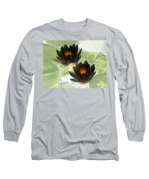 Long Sleeve T-Shirt featuring the photograph The Water Lilies Collection - Photopower 1041 by Pamela Critchlow