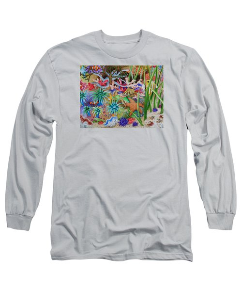 Thriving Ocean - Octopus Long Sleeve T-Shirt by Katherine Young-Beck