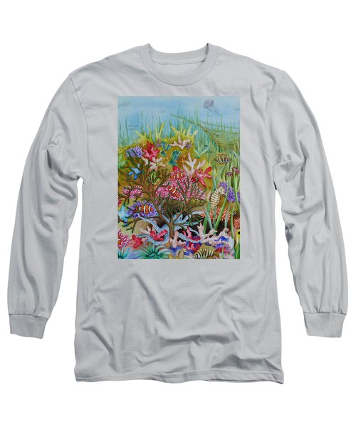 Thriving Ocean -sunken Ship Long Sleeve T-Shirt by Katherine Young-Beck