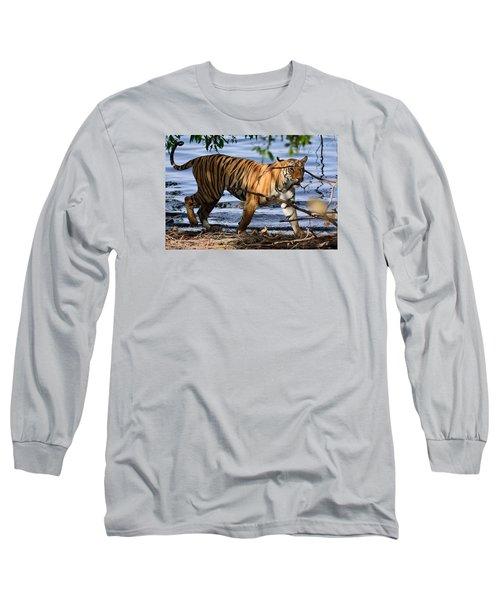 Tigress Along The Banks Long Sleeve T-Shirt