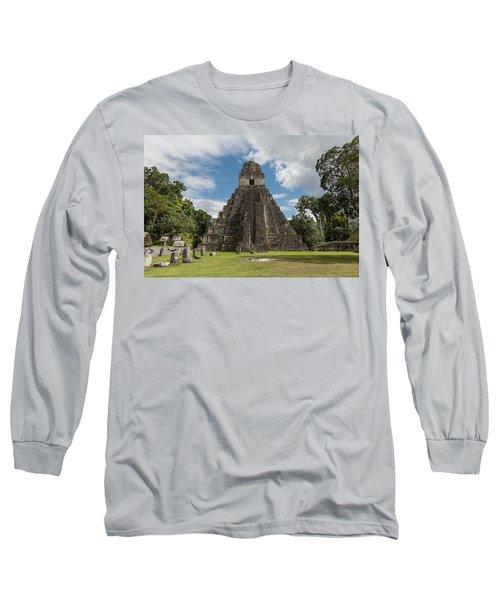 Tikal Pyramid 1j Long Sleeve T-Shirt