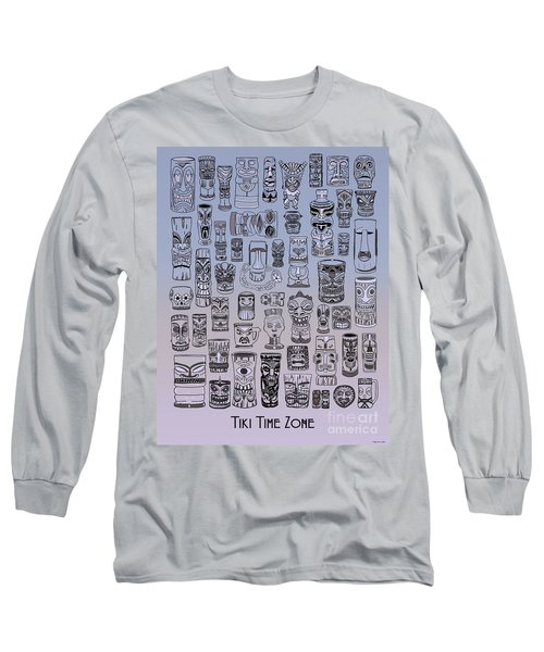 Long Sleeve T-Shirt featuring the digital art Tiki Cool Zone by Megan Dirsa-DuBois