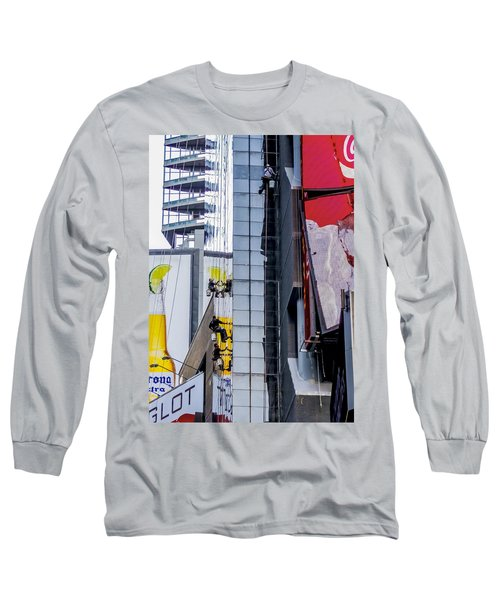 Times Square Window Washers Long Sleeve T-Shirt