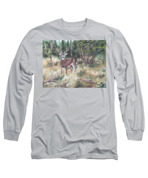 Long Sleeve T-Shirt featuring the painting Too Tempting by Lori Brackett