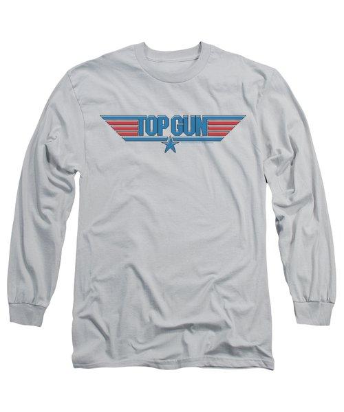 Top Gun - 8 Bit Logo Long Sleeve T-Shirt by Brand A