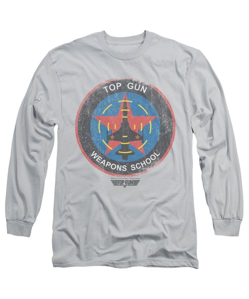 Top Gun - Flight School Logo Long Sleeve T-Shirt by Brand A