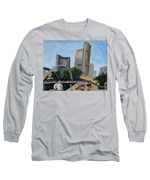 Toronto City Hall Long Sleeve T-Shirt by Ian  MacDonald