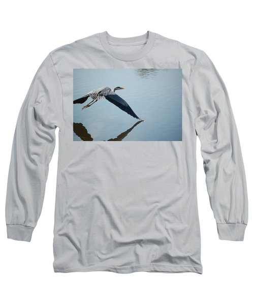 Touch The Water With A Wing Long Sleeve T-Shirt by Randy J Heath