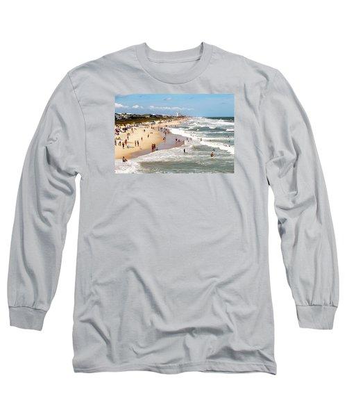 Tourist At Kure Beach Long Sleeve T-Shirt by Cynthia Guinn