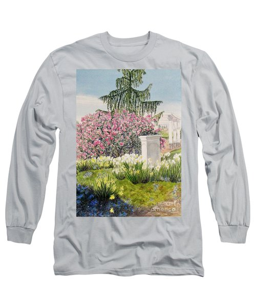 Long Sleeve T-Shirt featuring the painting Tower Hill Center by Carol Flagg