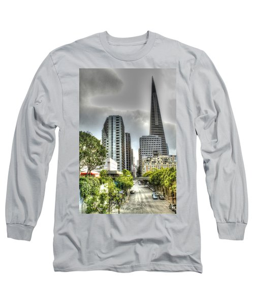 Transmerica Pyramid From The Embarcadero Long Sleeve T-Shirt