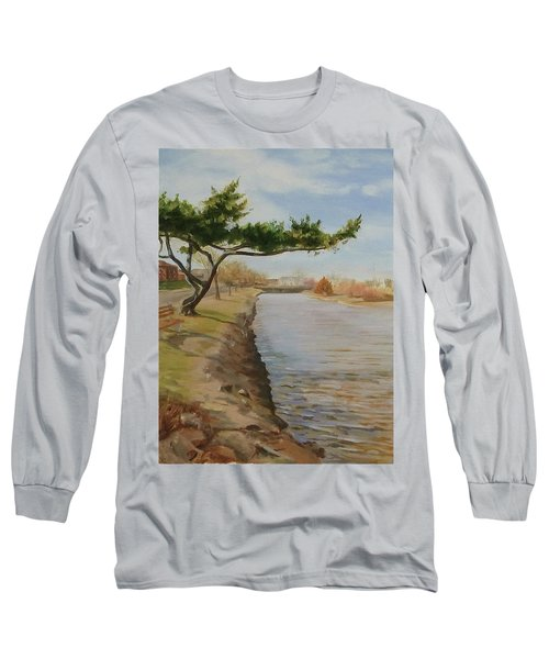 Tree With Lake Long Sleeve T-Shirt