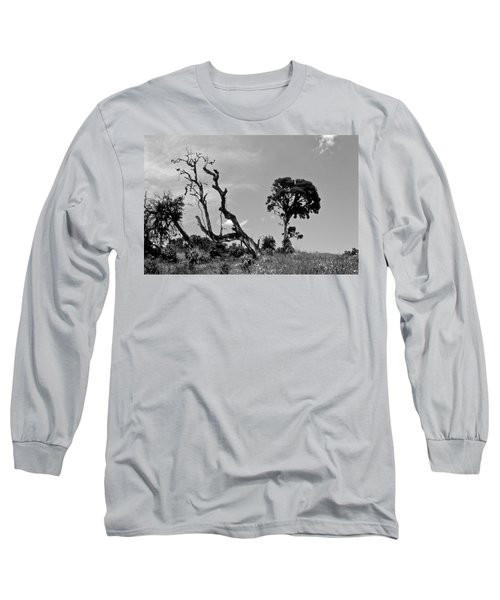 Trees In Cloud Forest Long Sleeve T-Shirt by Lana Enderle