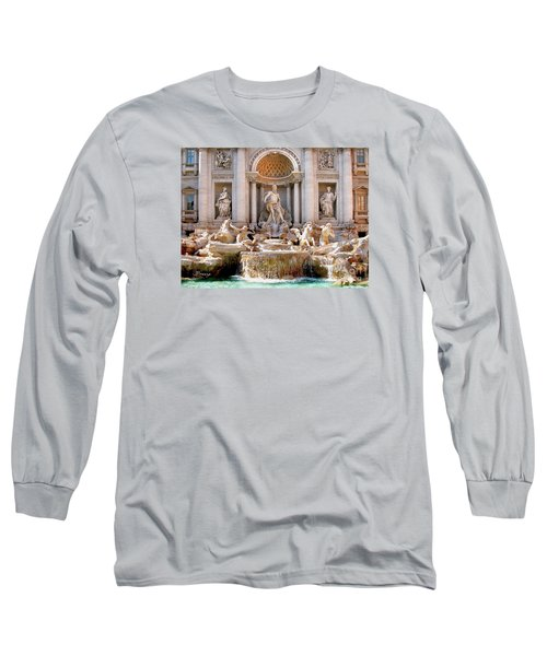 3 Coins Trevi. Rome Long Sleeve T-Shirt by Jennie Breeze