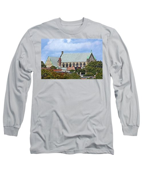 Long Sleeve T-Shirt featuring the photograph Trinity Church by Kristin Elmquist