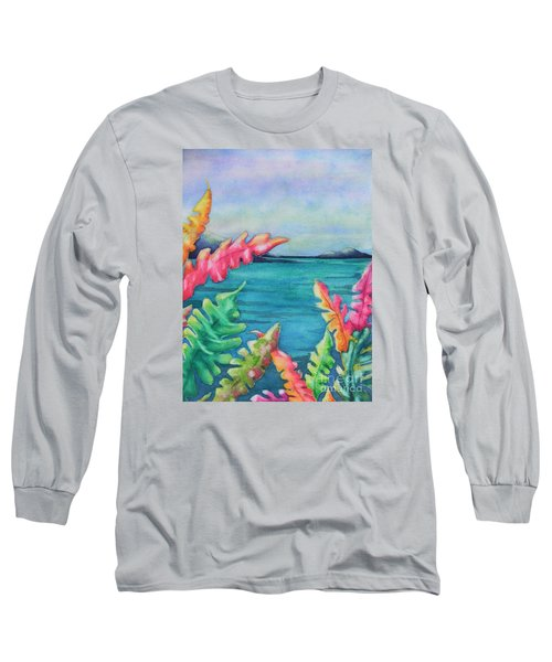 Tropical Scene Long Sleeve T-Shirt by Chrisann Ellis