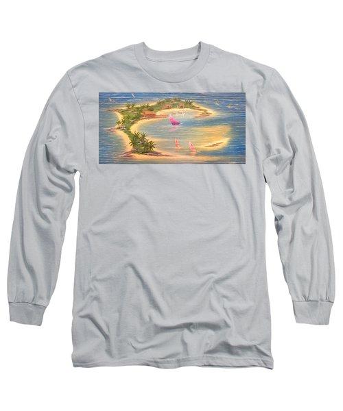 Tropical Windy Island Paradise Long Sleeve T-Shirt