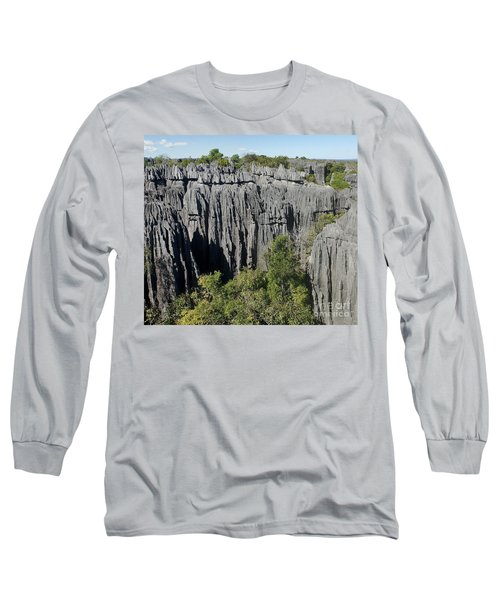 Tsingy De Bemaraha Madagascar 1 Long Sleeve T-Shirt by Rudi Prott