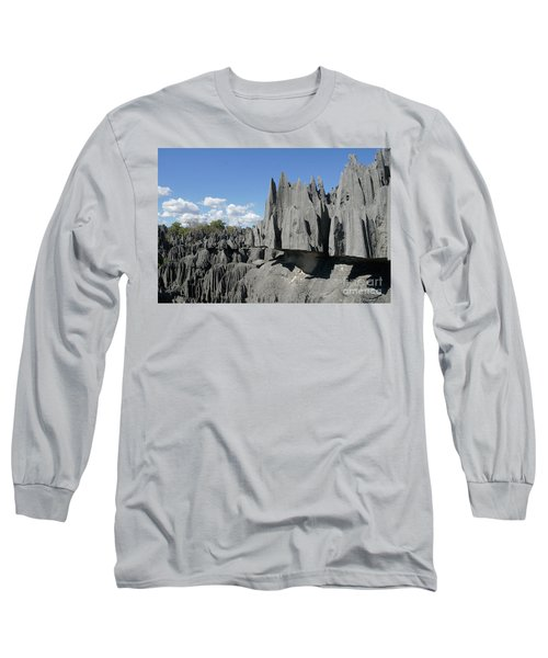 Tsingy De Bemaraha Madagascar 2 Long Sleeve T-Shirt by Rudi Prott