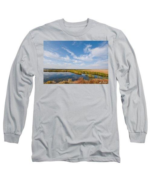 Tule Lake Marshland Long Sleeve T-Shirt by Jeff Goulden