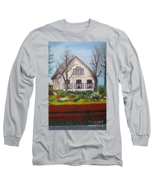 Tulip Cottage Long Sleeve T-Shirt by Martin Howard