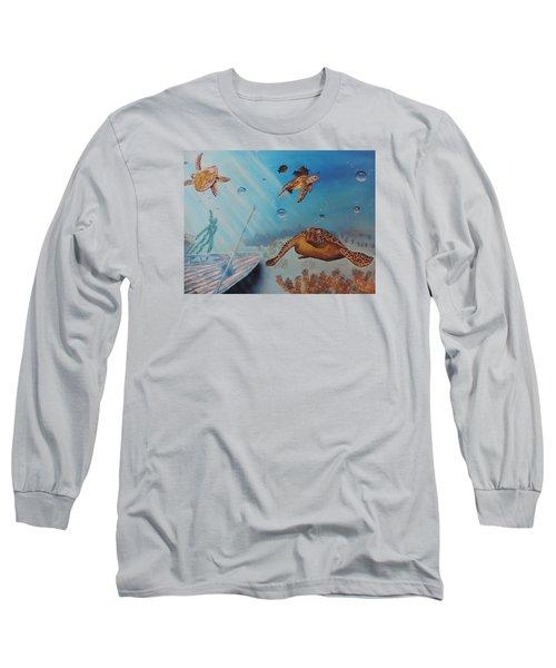 Turtles At Sea Long Sleeve T-Shirt