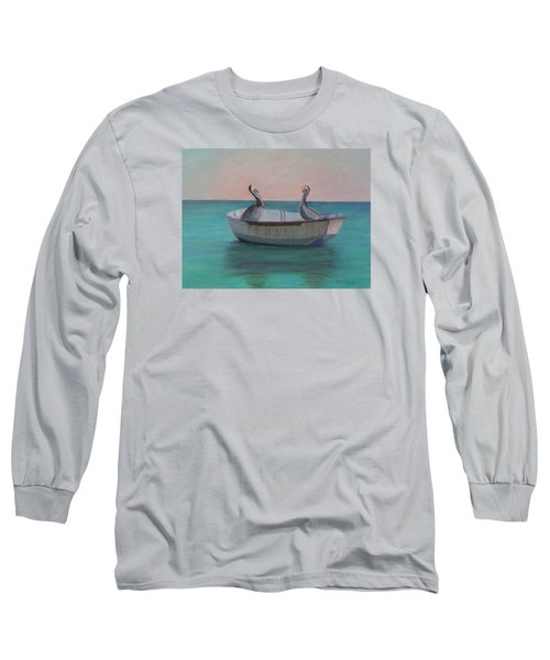 Two Friends In A Dinghy Long Sleeve T-Shirt