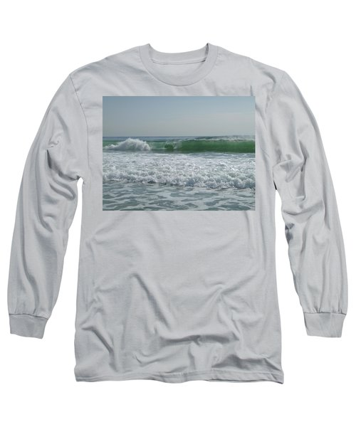 Two Green Waves Long Sleeve T-Shirt