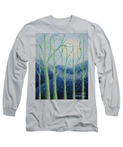 Long Sleeve T-Shirt featuring the painting Two Hearts by Holly Carmichael