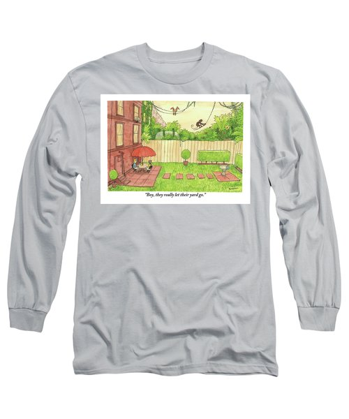 Two People Sitting On Their Back Patio Long Sleeve T-Shirt