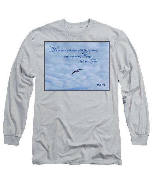 Long Sleeve T-Shirt featuring the photograph Under His Wings by Larry Bishop