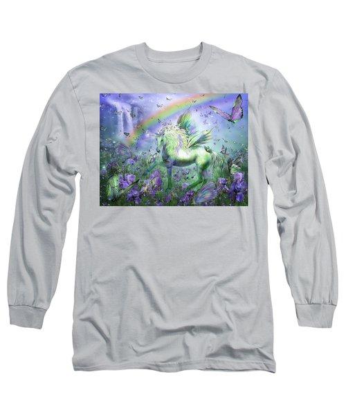 Unicorn Of The Butterflies Long Sleeve T-Shirt