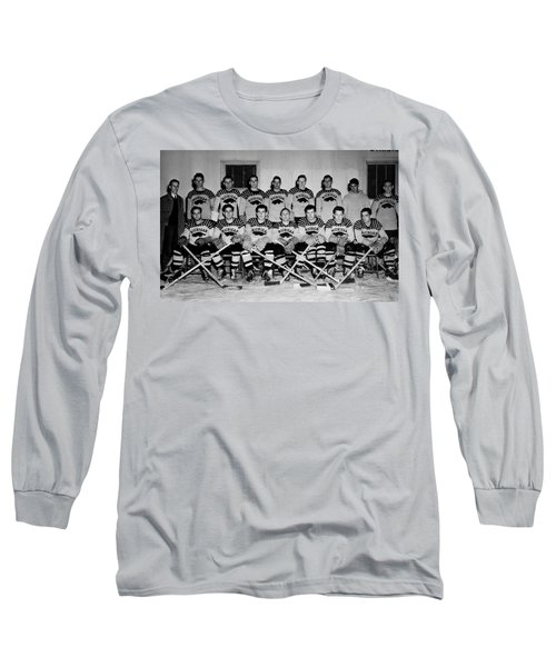 University Of Michigan Hockey Team 1947 Long Sleeve T-Shirt by Mountain Dreams