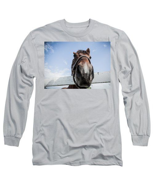 Up Close Long Sleeve T-Shirt by Alexey Stiop